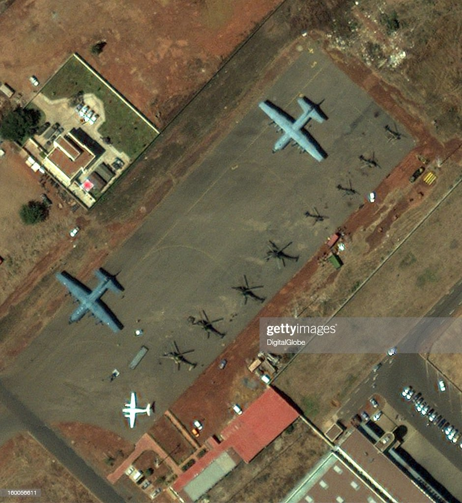 French aircraft at Bamako Airport, Mali