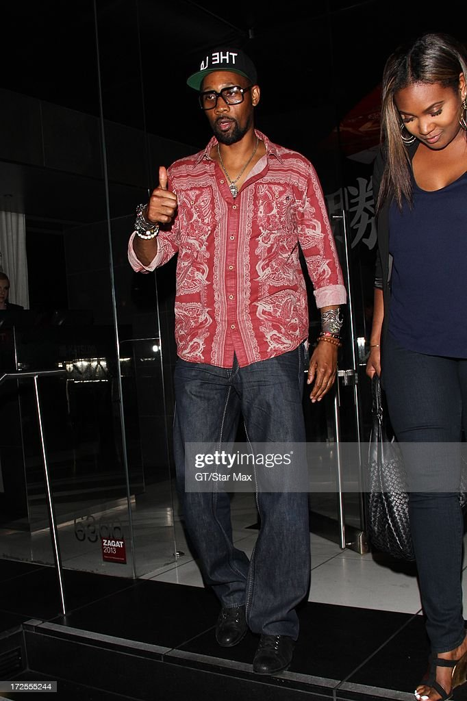 RZA as seen on July 2, 2013 in Los Angeles, California.