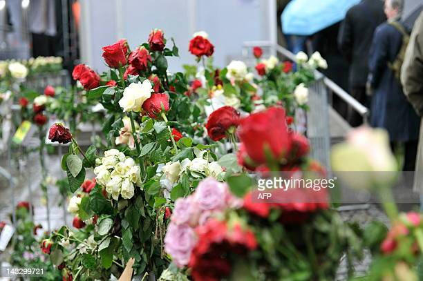 As the murder trial against Anders Behring Breivikin in Oslo enters its second week on April 23 flowers dominate the area around the security check...