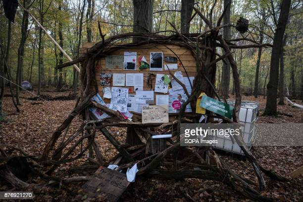 As the settlements are spread around the forest activists use info board to centralise nonsensitive communication Starting in 2012 the Hambach Forest...