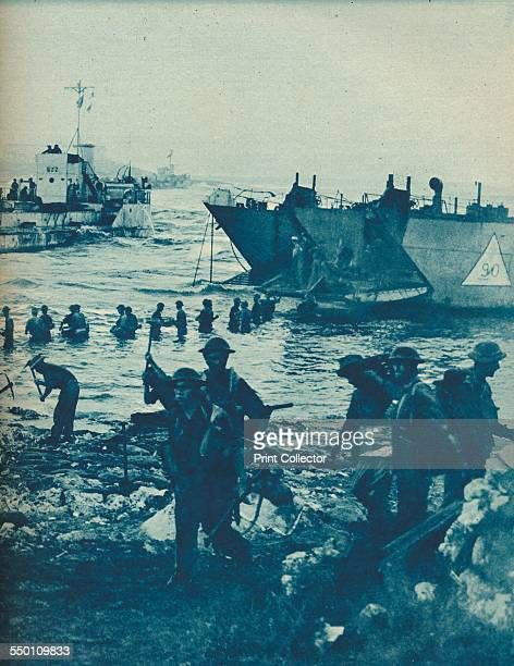 ''As the Sun Came Up On Invasion Day with Pick and Shovel the Way is Cleared' 194344 The Allied invasion of Sicily codenamed Operation Husky was a...