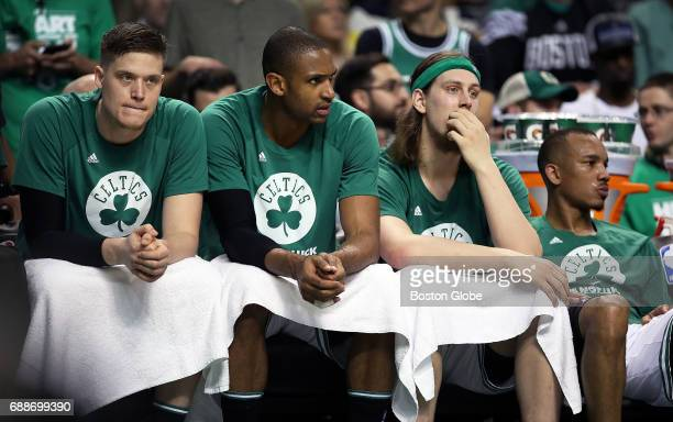 As time winds down in the game and their season Boston Celtics Al Horford Jonas Jerebko Kelly Olynyk and Avery Bradley are not a happy bunch The...