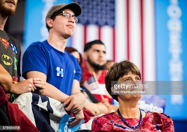 MIAMI FL As vicepresidential choice Senator Tim Kaine speaks during a Miami rally with Democratic Presumptive Nominee for President former Secretary...