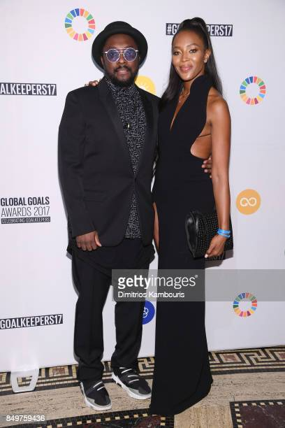 As world leaders gather in New York for the UN General Assembly william and Naomi Campbell attend The Goalkeepers Global Goals Awards hosted by UN...