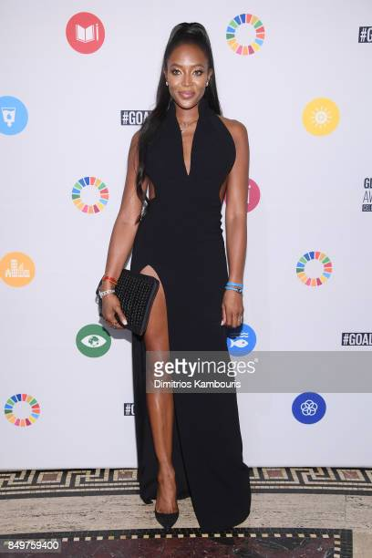 As world leaders gather in New York for the UN General Assembly Naomi Campbell attends The Goalkeepers Global Goals Awards hosted by UN Deputy...