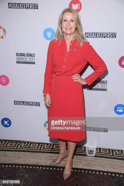 As world leaders gather in New York for the UN General Assembly former Prime Minister of Denmark Helle ThorningSchmidt attends The Goalkeepers Global...