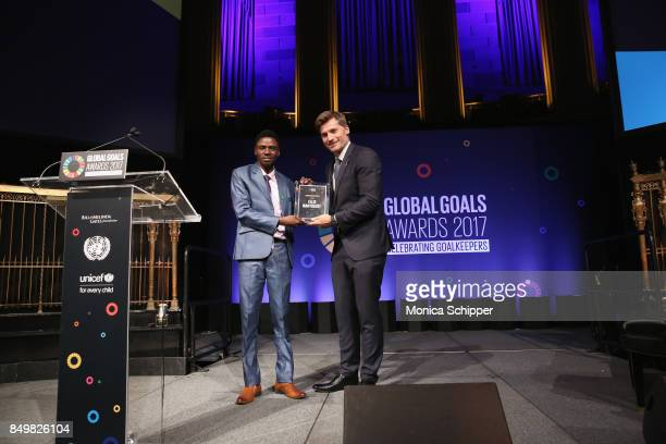 As world leaders gather in New York for the UN General Assembly Founder of Youth Against Barriers Felix Manyogote accepts The Leave No One Behind...