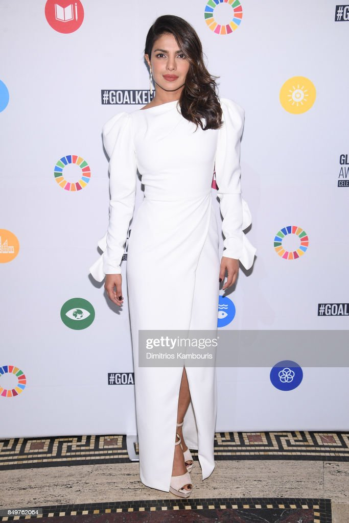 As world leaders gather in New York for the UN General Assembly Priyanka Chopra attends The Goalkeepers Global Goals Awards hosted by UN Deputy Secretary-General Amina J. Mohammed and Melinda Gates. The event honored outstanding individuals who are accelerating progress towards the UN's Global Goals and was held at Gotham Hall on September 19, 2017 in New York City.