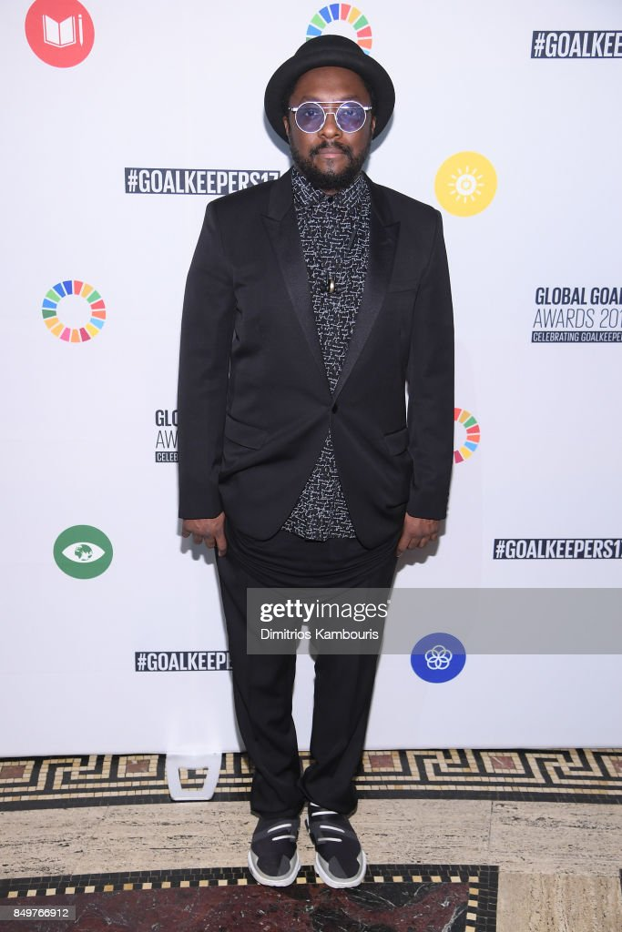 As world leaders gather in New York for the UN General Assembly will.i.am attends The Goalkeepers Global Goals Awards hosted by UN Deputy Secretary-General Amina J. Mohammed and Melinda Gates. The event honored outstanding individuals who are accelerating progress towards the UN's Global Goals and was held at Gotham Hall on September 19, 2017 in New York City.
