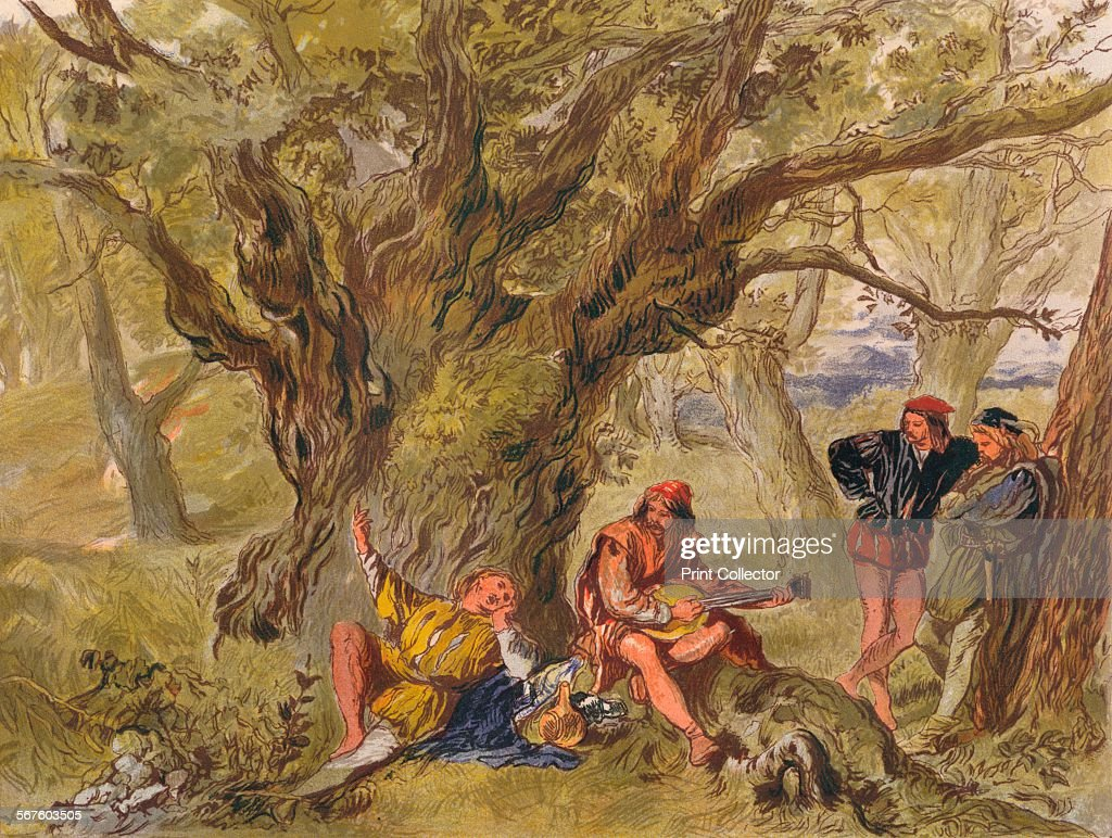 William Shakespeare under the greenwood tree