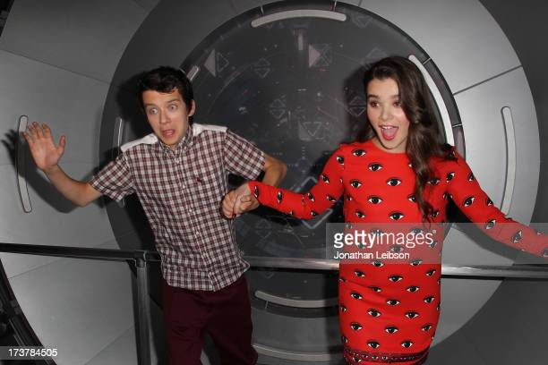 Asa Butterfield and Hailee Steinfeld attend the 'Enders Game' Exclusive Fan Experience Press Preview Night ComicCon International 2013 on July 17...