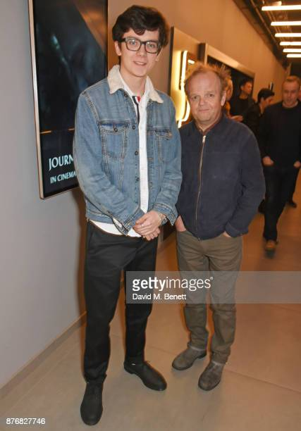 Asa Butterfield and Toby Jones attend a special screening of 'Journey's End' at Vue Leicester Square on November 20 2017 in London England