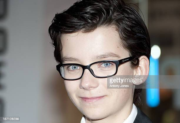 Asa Butterfield Attending The Royal Film Premiere Of 'Hugo' At The Odeon Leicester Square In London