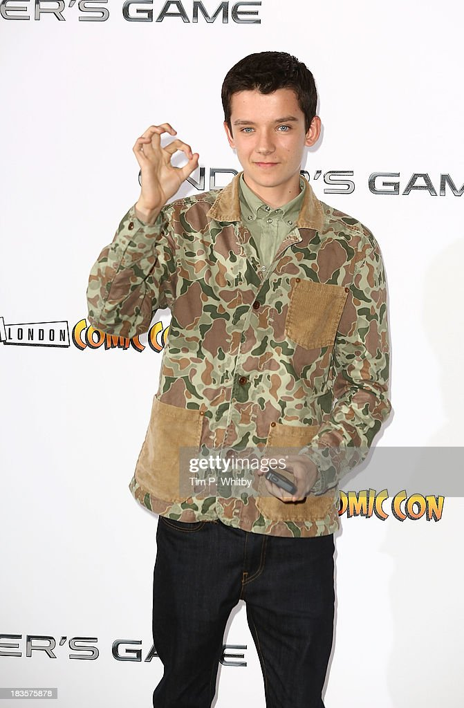 Asa Butterfield attends a photocall to promote 'Ender's Game' at Odeon Leicester Square on October 7, 2013 in London, England.