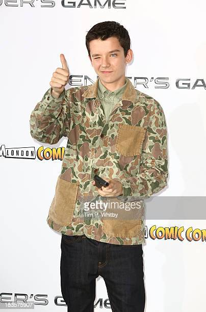Asa Butterfield attends a photocall to promote 'Ender's Game' at Odeon Leicester Square on October 7 2013 in London England