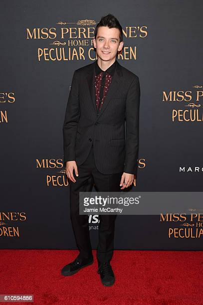 Asa Butterfield attends the 'Miss Peregrine's Home For Peculiar Children' premiere at Saks Fifth Avenue on September 26 2016 in New York City