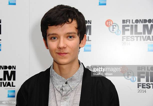 Asa Butterfield attends the red carpet arrivals of 'XY' during the 58th BFI London Film Festival at Odeon West End on October 13 2014 in London...