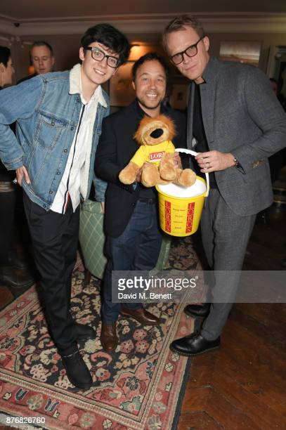 Asa Butterfield Stephen Graham and Paul Bettany attend a private dinner celebrating the special screening of 'Journey's End' at Kettner's Townhouse...