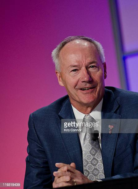 Asa Hutchinson speaks during the 'Strange Bedfellows The Political Appeal Of Drug Courts' panel discussion during the 17th Annual Drug Court Training...