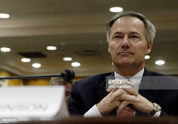 Asa Hutchinson undersecretary for border and transportation security Homeland Security Department testifying at a Homeland Security Subcommittee...