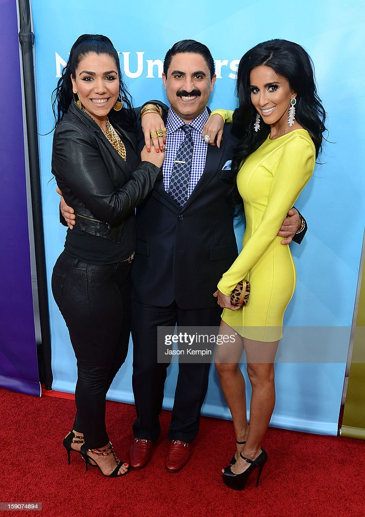 Asa Soltan Rahmati, <a gi-track='captionPersonalityLinkClicked' href=/galleries/search?phrase=Reza+Farahan&family=editorial&specificpeople=9012581 ng-click='$event.stopPropagation()'>Reza Farahan</a> and Lilly Ghalichi attend NBCUniversal's '2013 Winter TCA Tour' Day 2 at Langham Hotel on January 7, 2013 in Pasadena, California.