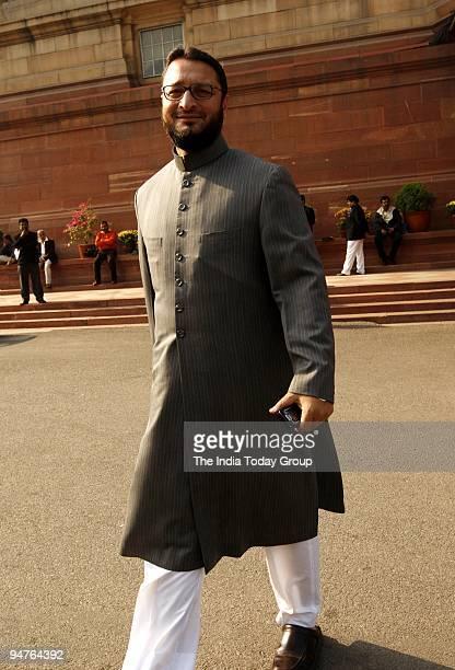 Asaduddin Owaisi at Parliament House in New Delhi on Thursday December 17 2009