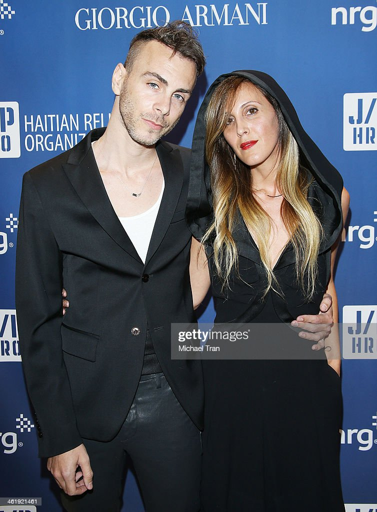 <a gi-track='captionPersonalityLinkClicked' href=/galleries/search?phrase=Asaf+Avidan&family=editorial&specificpeople=6824137 ng-click='$event.stopPropagation()'>Asaf Avidan</a> (L) and Hadas Kleinman arrive at the 3rd Annual Sean Penn & Friends Help Haiti Home Gala benefiting J/P HRO presented By Giorgio Armani held at Montage Beverly Hills on January 11, 2014 in Beverly Hills, California.
