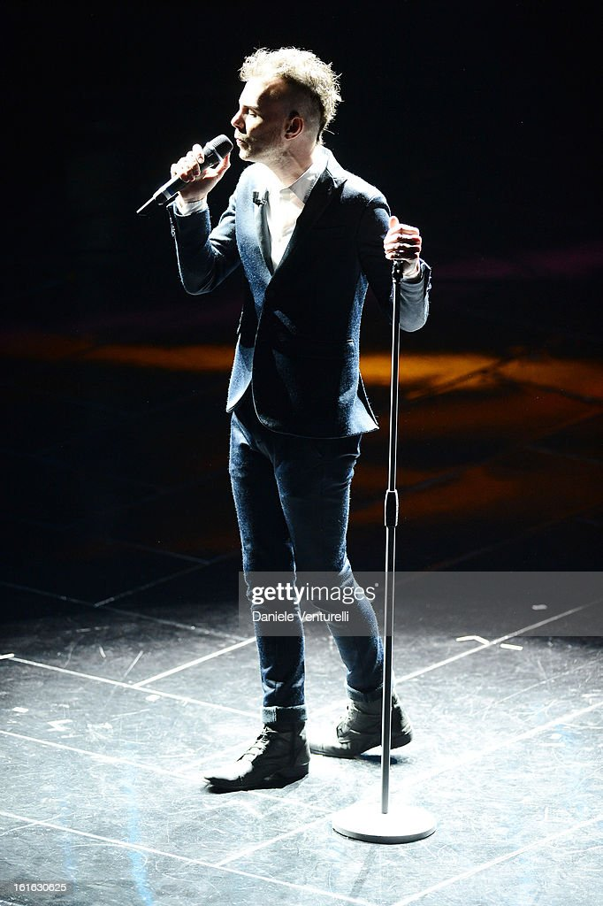 Asaf Avidan attend the second night of the 63rd Sanremo Song Festival at the Ariston Theatre on February 13, 2013 in Sanremo, Italy.