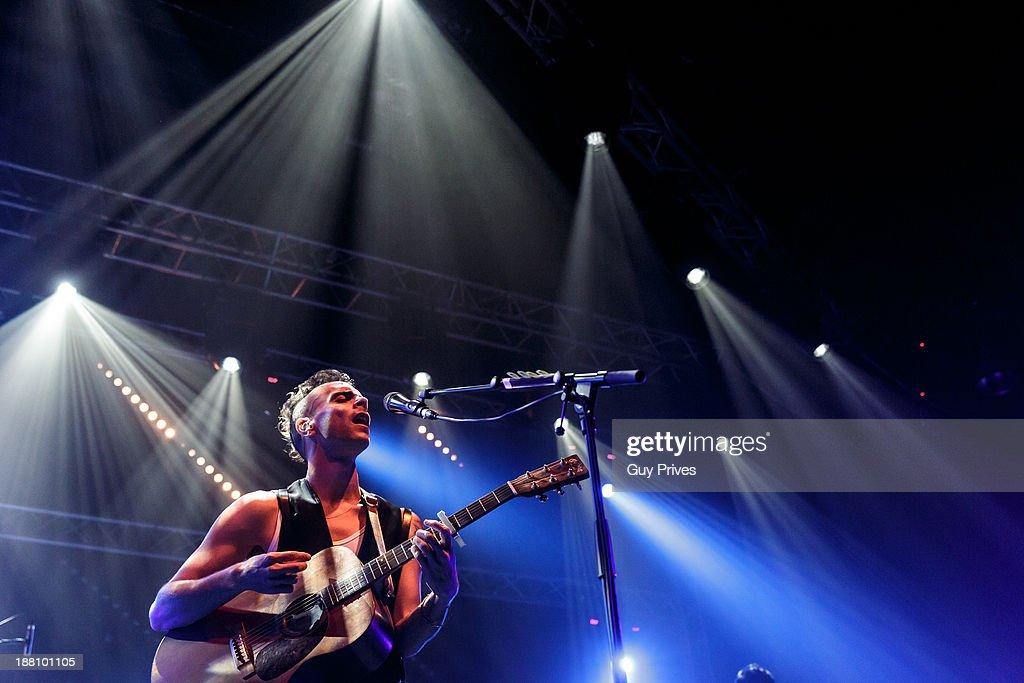 Asaf Avidan performs on stage at Hangar 11, Tel Aviv Port on November 14, 2013 in Tel Aviv, Israel.