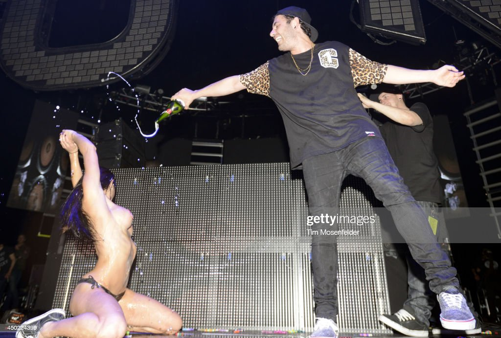 Asaf Borger aka Borgore performs in support of his Wild Out release at the Bill Graham Civic Auditorium on November 16, 2013 in Oakland, California.
