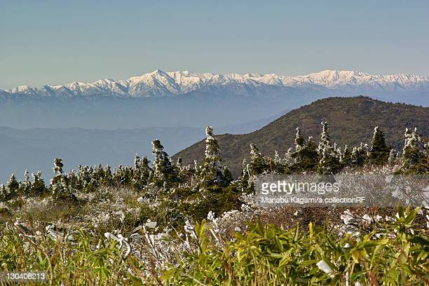 Asahi mountain range from Mt. Zao, Yamagata Prefecture, Japan