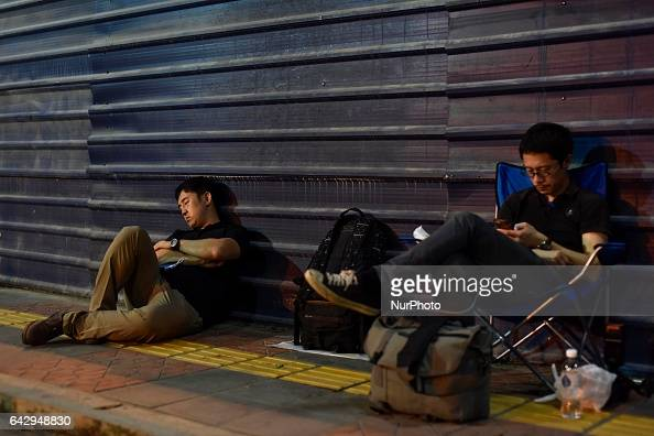 Asahi newspaper and Yonhap news journalists are camping at outside of Kuala Lumpur hospital on February 19 2017 at Kuala Lumpur Malaysia
