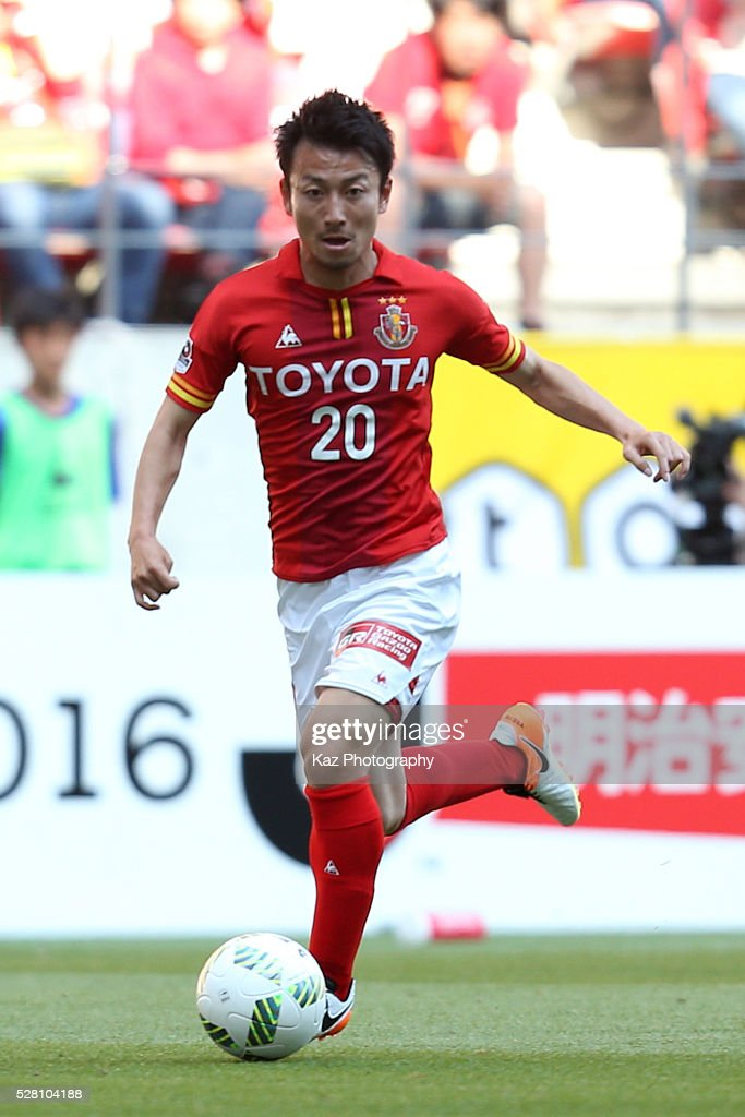 Asahi Yada of Nagoya Grampus in action during the J.League match between Nagoya Grampus and Yokohama F.Marinos at the Toyota Stadium on May 4, 2016 in Toyota, Aichi, Japan.