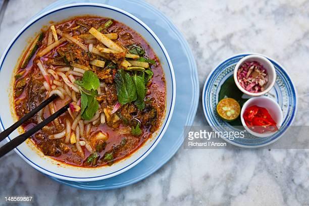 Asam or Penang laksa at Mews Cafe.
