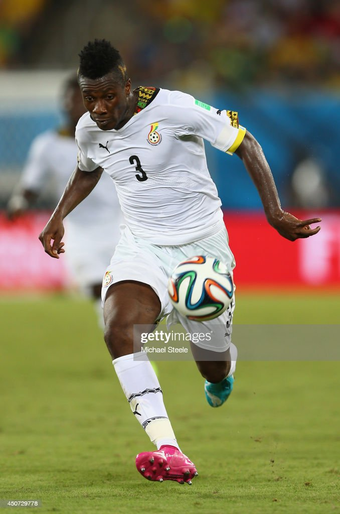 <a gi-track='captionPersonalityLinkClicked' href=/galleries/search?phrase=Asamoah+Gyan&family=editorial&specificpeople=535782 ng-click='$event.stopPropagation()'>Asamoah Gyan</a> of Ghana controls the ball during the 2014 FIFA World Cup Brazil Group G match between Ghana and the United States at Estadio das Dunas on June 16, 2014 in Natal, Brazil.