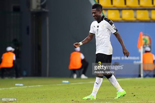 Asamoah Gyan of Ghana is seen during the African Cup of Nations 2017 Group D football match between Ghana and Egypt in PortGentil Gabon on January 25...