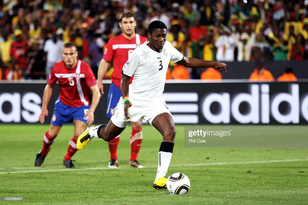 Image result for asamoah gyan penalty serbia