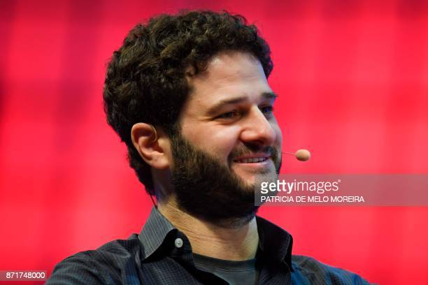 Asana cofounder and chief executive officer Dustin Moskovitz gives an interview during the 2017 Web Summit in Lisbon on November 8 2017 Europe's...