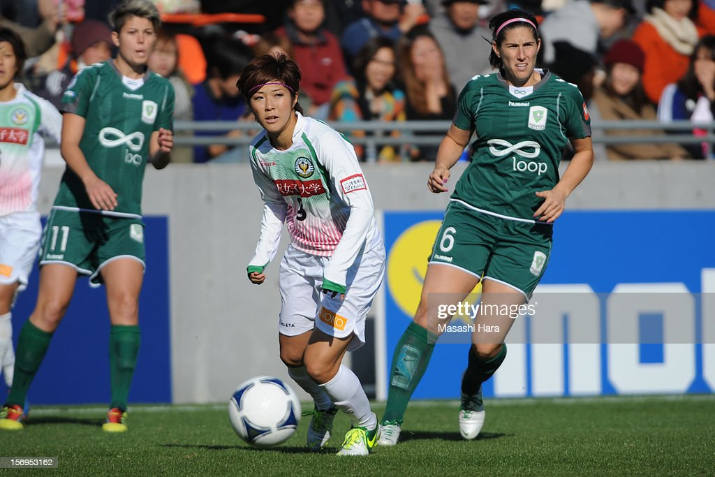 Asano Nagasato #9 of NTV Beleza in action during the International Women's Club Championship 3rd Place Match between NTV Beleza and Canberra United at Nack5 Stadium Omiya on November 25, 2012 in Saitama, Japan.