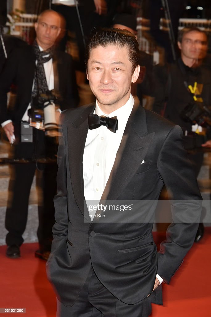 Asano Tadanobu attends 'The Handmaiden (Mademoiselle)' premiere during the 69th annual Cannes Film Festival at the Palais des Festivals on May 14, 2016 in Cannes, France.