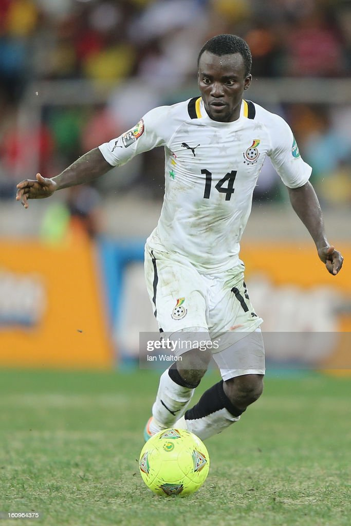 Asante Solomon of Ghana in action during the 2013 Africa Cup of Nations Semi-Final match between Burkina Faso and Ghana at the Mbombela Stadium on February 6, 2013 in Nelspruit, South Africa.