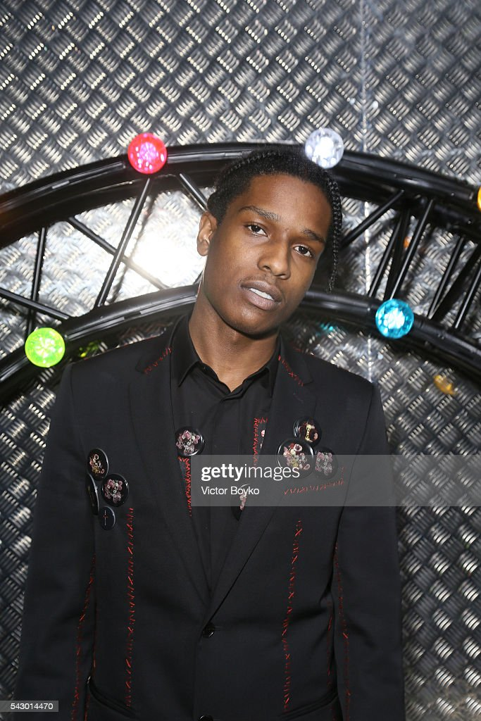 ASap Rocky attends the Dior Homme Menswear Spring/Summer 2017 show as part of Paris Fashion Week on June 25, 2016 in Paris, France.