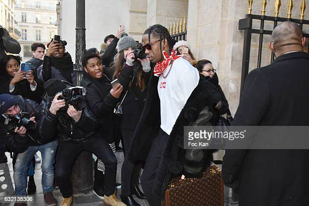 Asap Rocky attends the Louis Vuitton Menswear Fall/Winter 20172018 show as part of Paris Fashion Week on January 19 2017 in Paris France