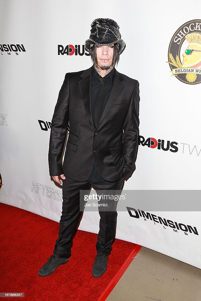 DJ Asba arrives at the 'AFTERSHOCK' premiere presented by Dimension Films and RADiUS-TWC in partnership with Shock Top - Red Carpet on May 1, 2013 in Los Angeles, California.