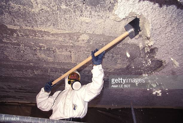 Asbestos Cleaning School in Nantes France on July 04 1996