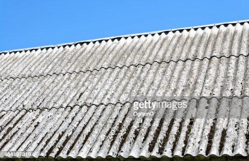 asbestos roof : Stock Photo