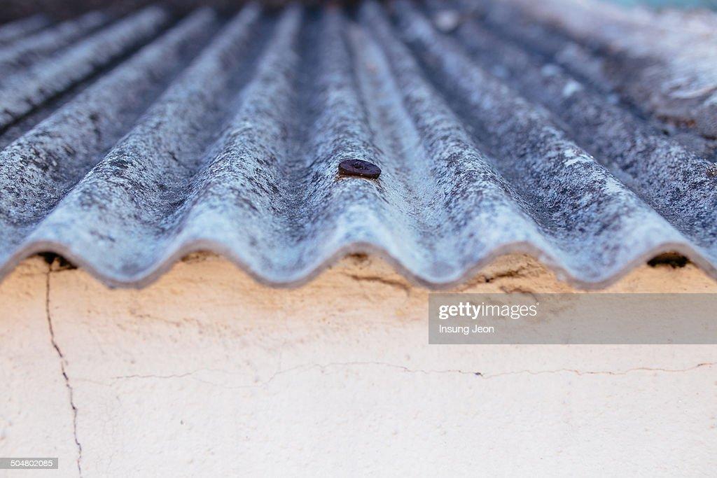 Asbestos slate roof