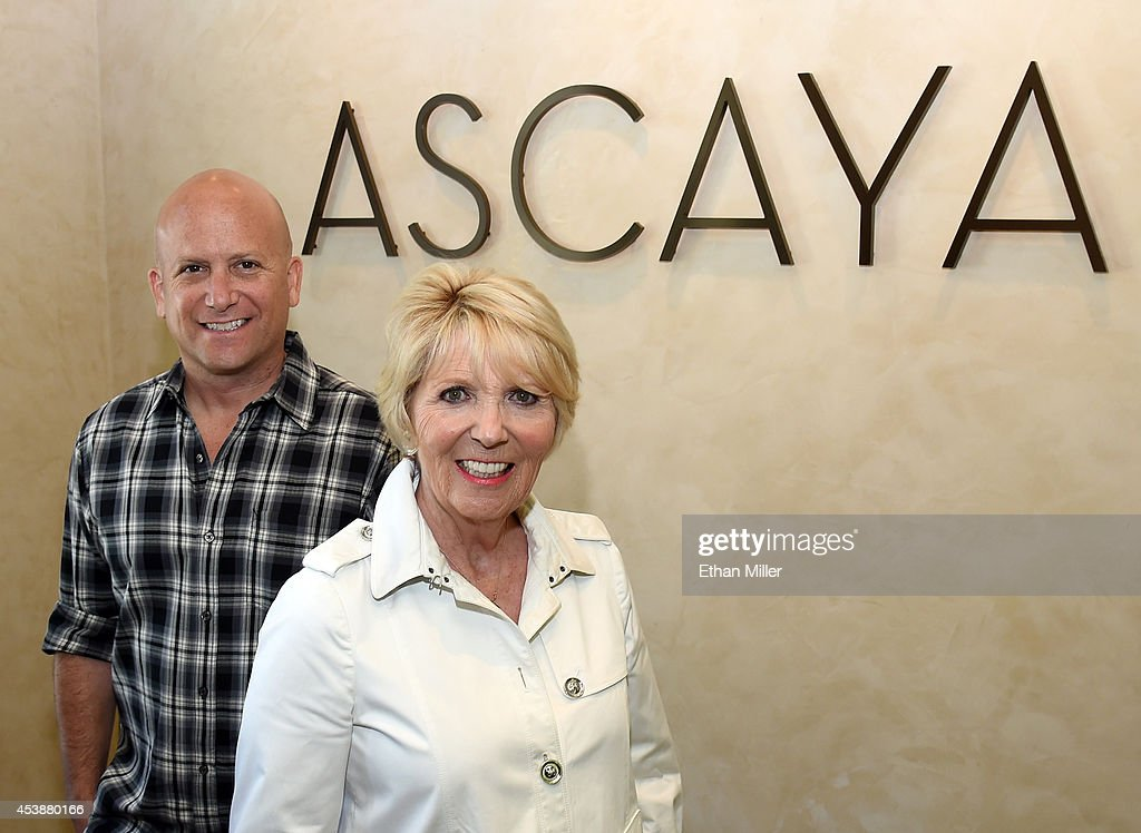 Ascaya spokesman Ivan Sher (L) and spokeswoman Florence Shapiro pose in the sales center at Ascaya, Nevada's premier luxury home development, on August 20, 2014 in Henderson, Nevada. Ascaya, featuring 313 luxury estate home sites nestled atop the McCullough Range, opened its sales center and began accepting reservations on Wednesday.