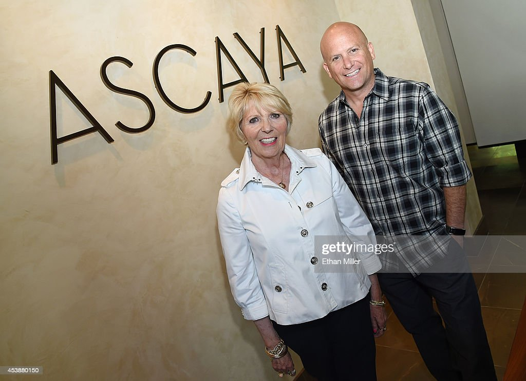 Ascaya spokeswoman Florence Shapiro (L) and spokesman Ivan Sher pose in the sales center at Ascaya, Nevada's premier luxury home development, on August 20, 2014 in Henderson, Nevada. Ascaya, featuring 313 luxury estate home sites nestled atop the McCullough Range, opened its sales center and began accepting reservations on Wednesday.