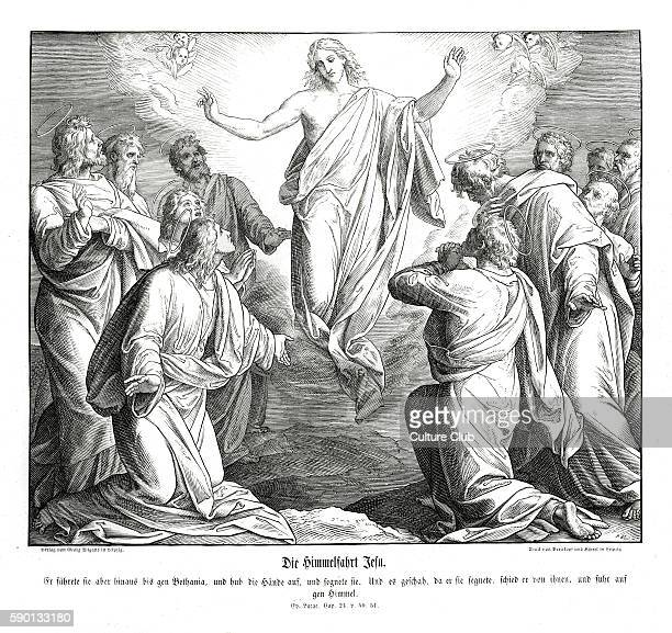 Ascension of Christ Gospel of Luke chapter XXIV verses 50 51 ' And he led them out as far as to Bethany and he lifted up his hands and blessed them...